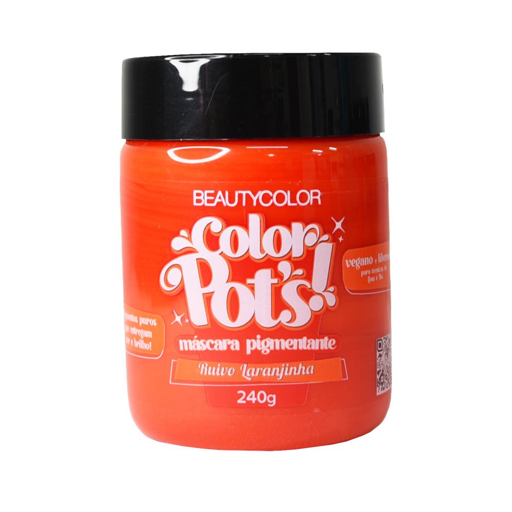Beauty Color Máscara Pigmentante Color Pots Ruivo Laranjinha 240G
