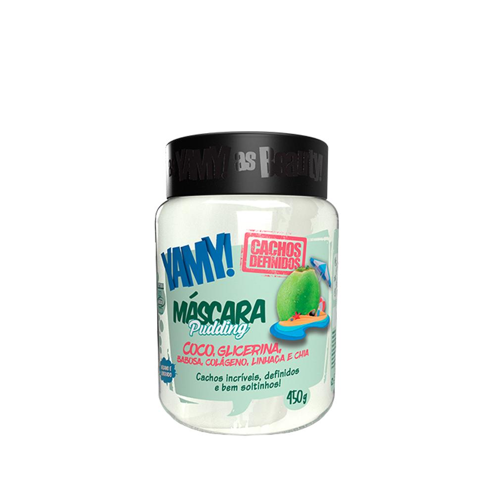 Beauty Color Máscara Pudding Coco Yamy Cachos Definidos 450g