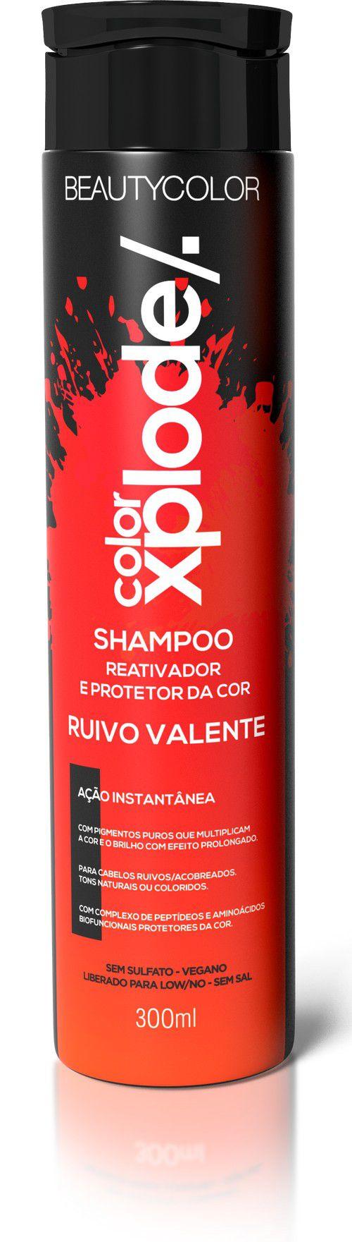 Beauty Color Shampoo Ruivo Valente Reativador e Protetor da Cor - 300ml
