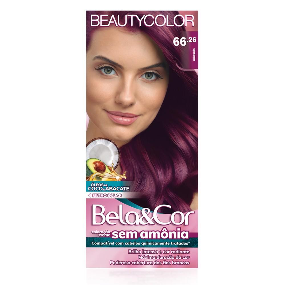 Bela&Cor Kit Coloração Sem Amônia 66.26 Marsala
