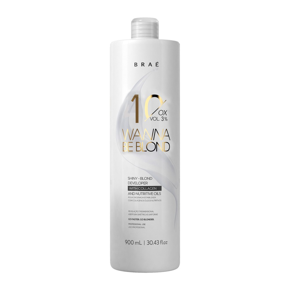 Braé Wanna Be Blond Água Oxigenada 10 Vol. 3% 900 ml
