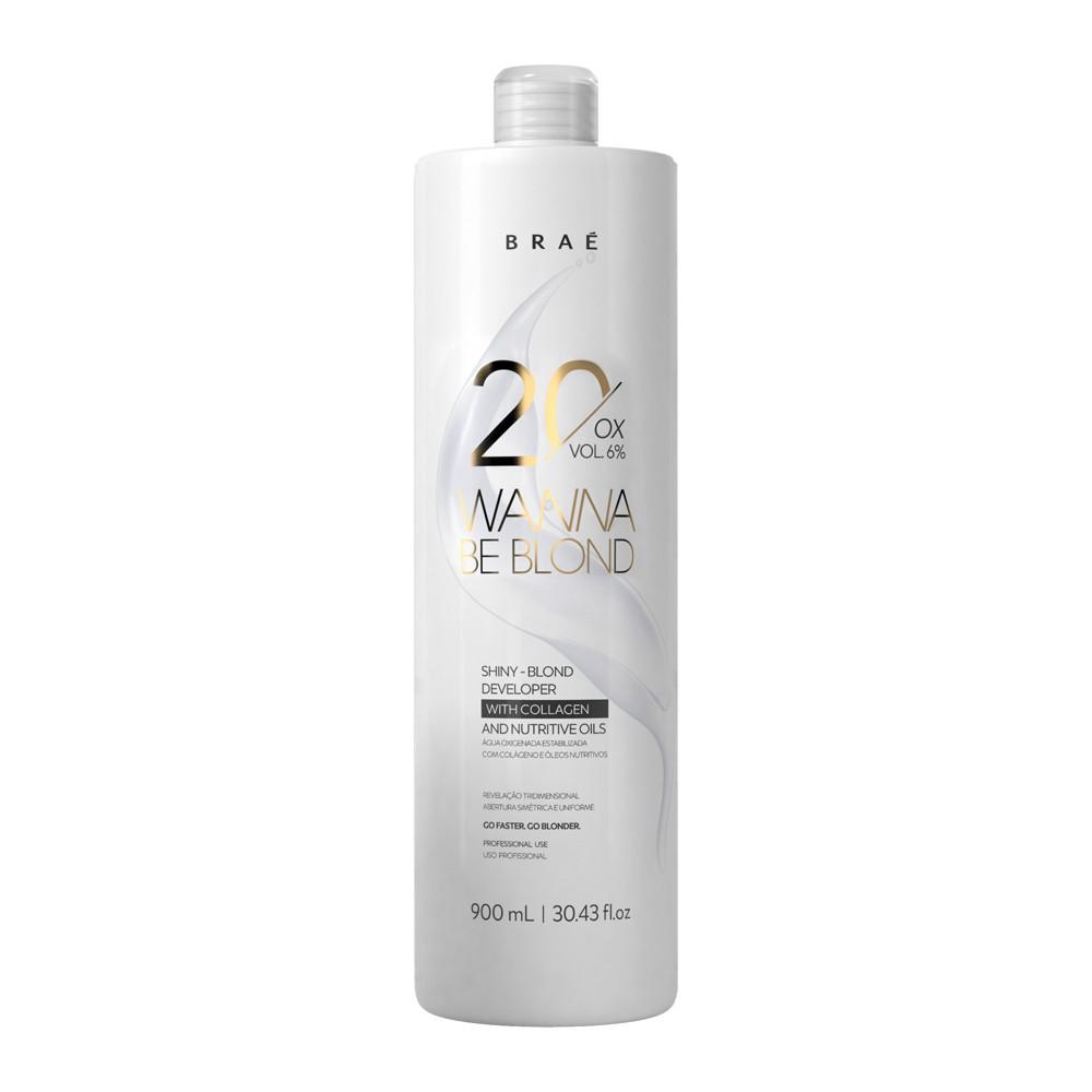 Braé Wanna Be Blond Água Oxigenada 20 Vol. 6% 900 ml