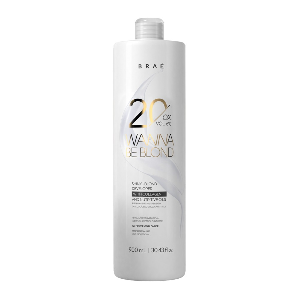 Braé Wanna Be Blond Água Oxigenada 30 Vol. 9% 900 ml