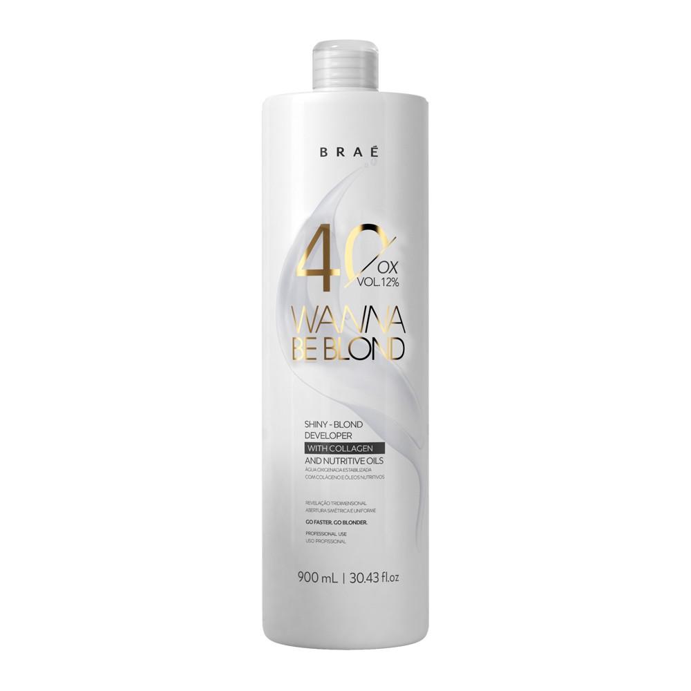 Braé Wanna Be Blond Água Oxigenada 40 Vol. 12% 900 ml