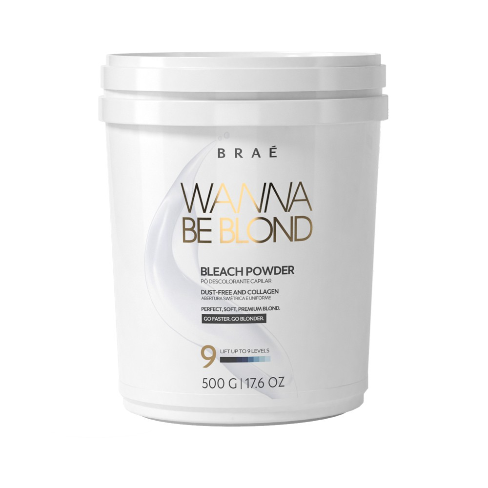 Braé Wanna Be Blond Bleach Powder Pó Descolorante 9 Tons 500g