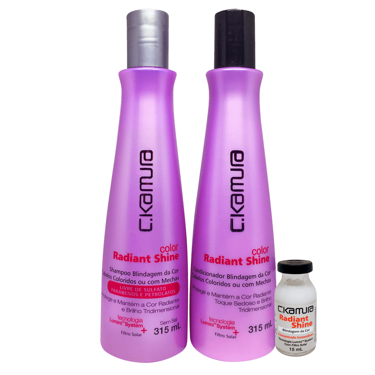 Kit C.Kamura Color Radiant Shine- Shampoo, Condicionador e Superdose