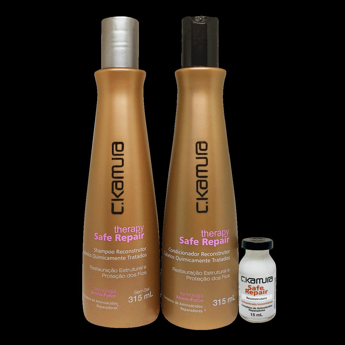 C.Kamura Kit Therapy Safe Repair Shampoo e Condicionador - 315 ml cada  Superdose Gratis
