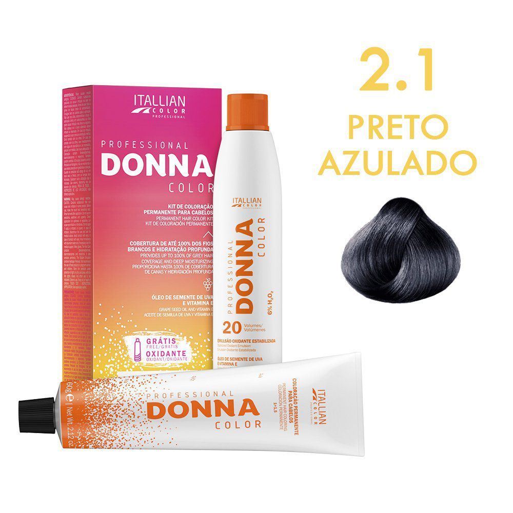 Donna Color Kit Coloração 2.1 Preto Azulado