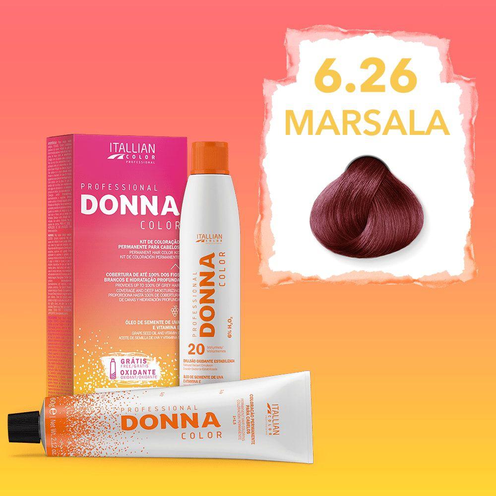 Donna Color Kit Coloração 6.26 Marsala