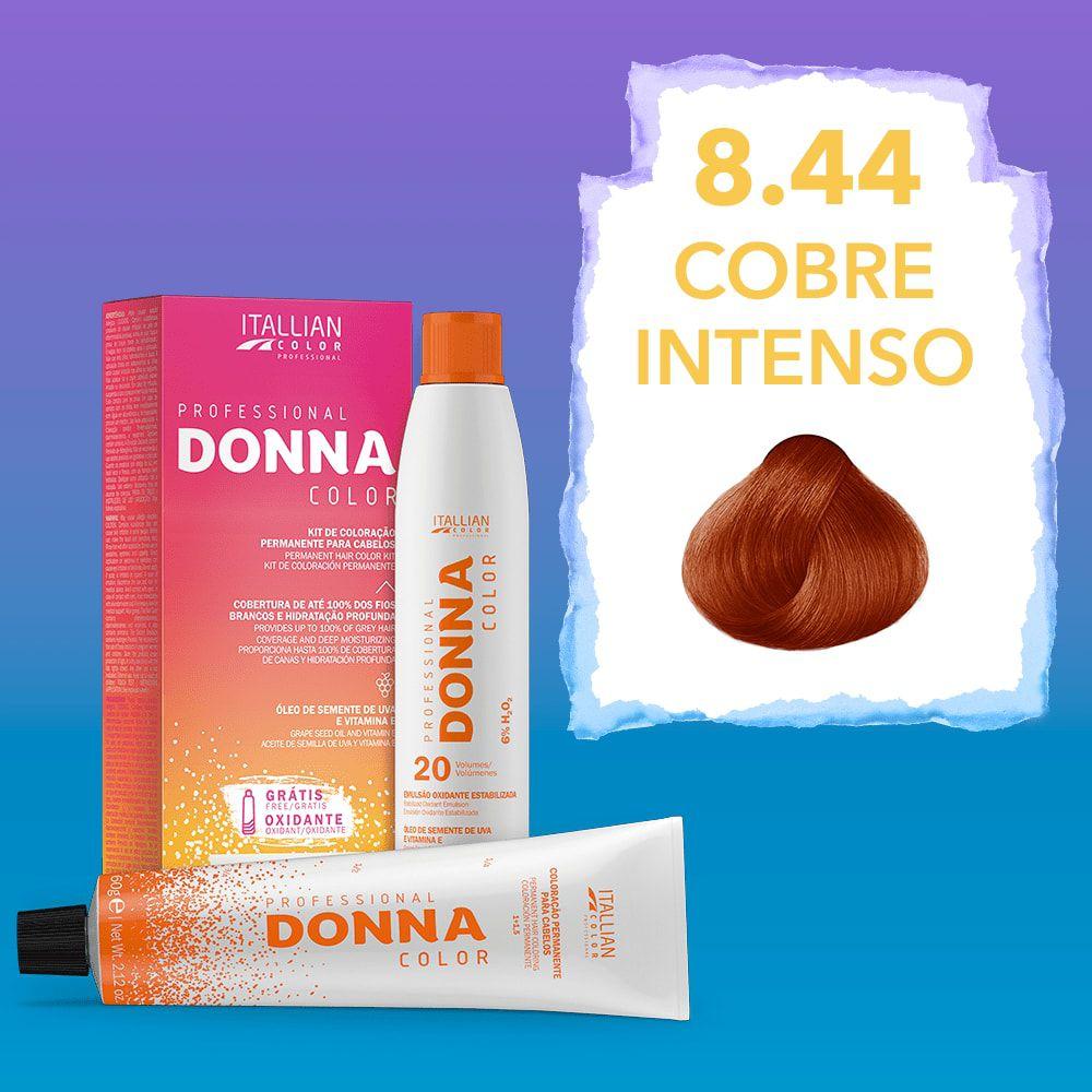 Donna Color Kit Coloração 8.44 Cobre Intenso