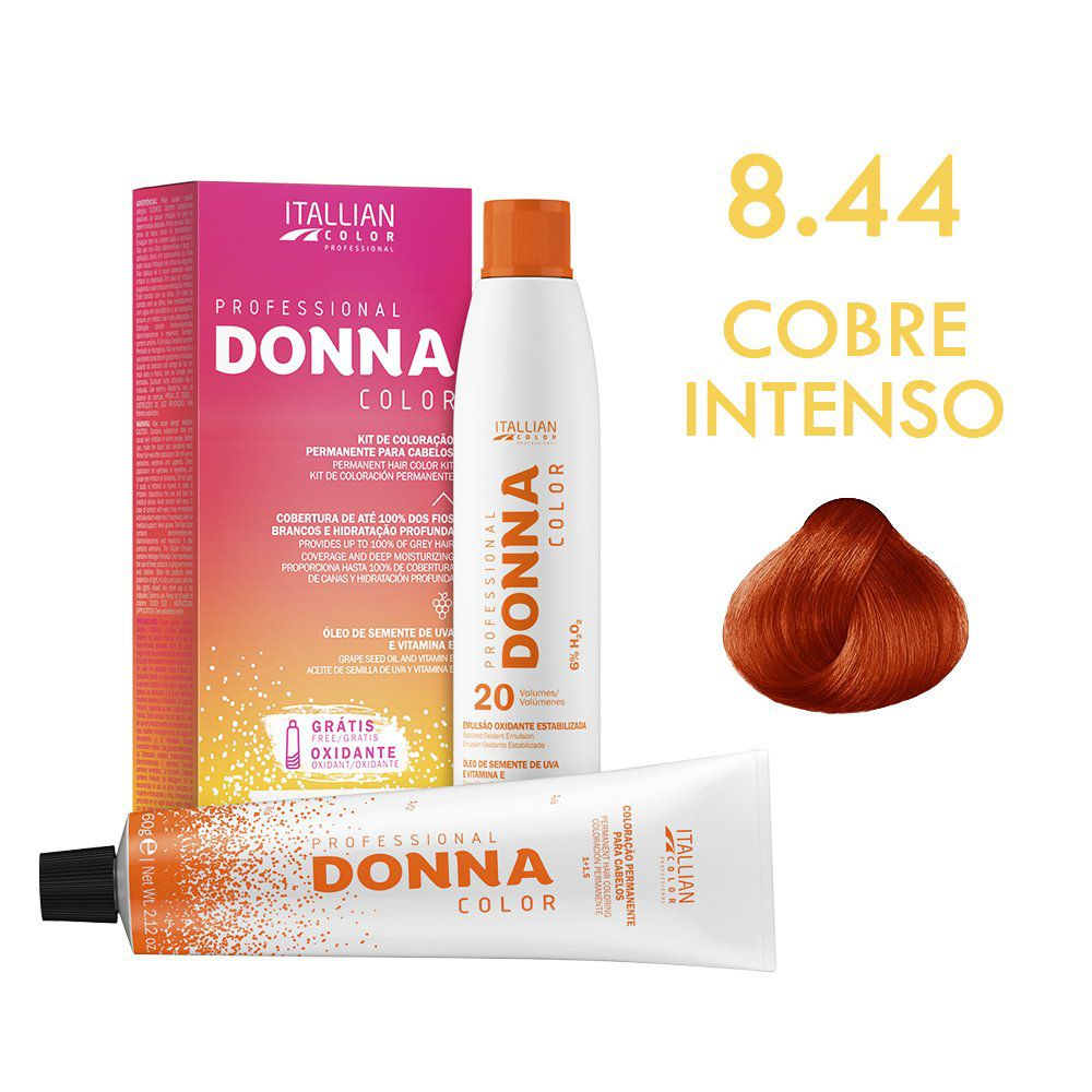 Donna Color Kit Coloração 8.44 Cobre Intenso