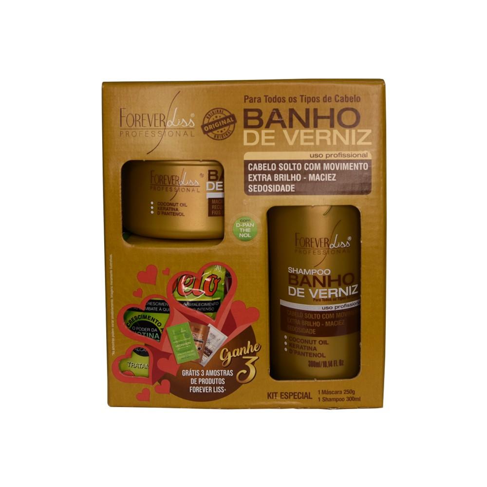 Forever Liss Kit Banho de Verniz - Shampoo e Máscara