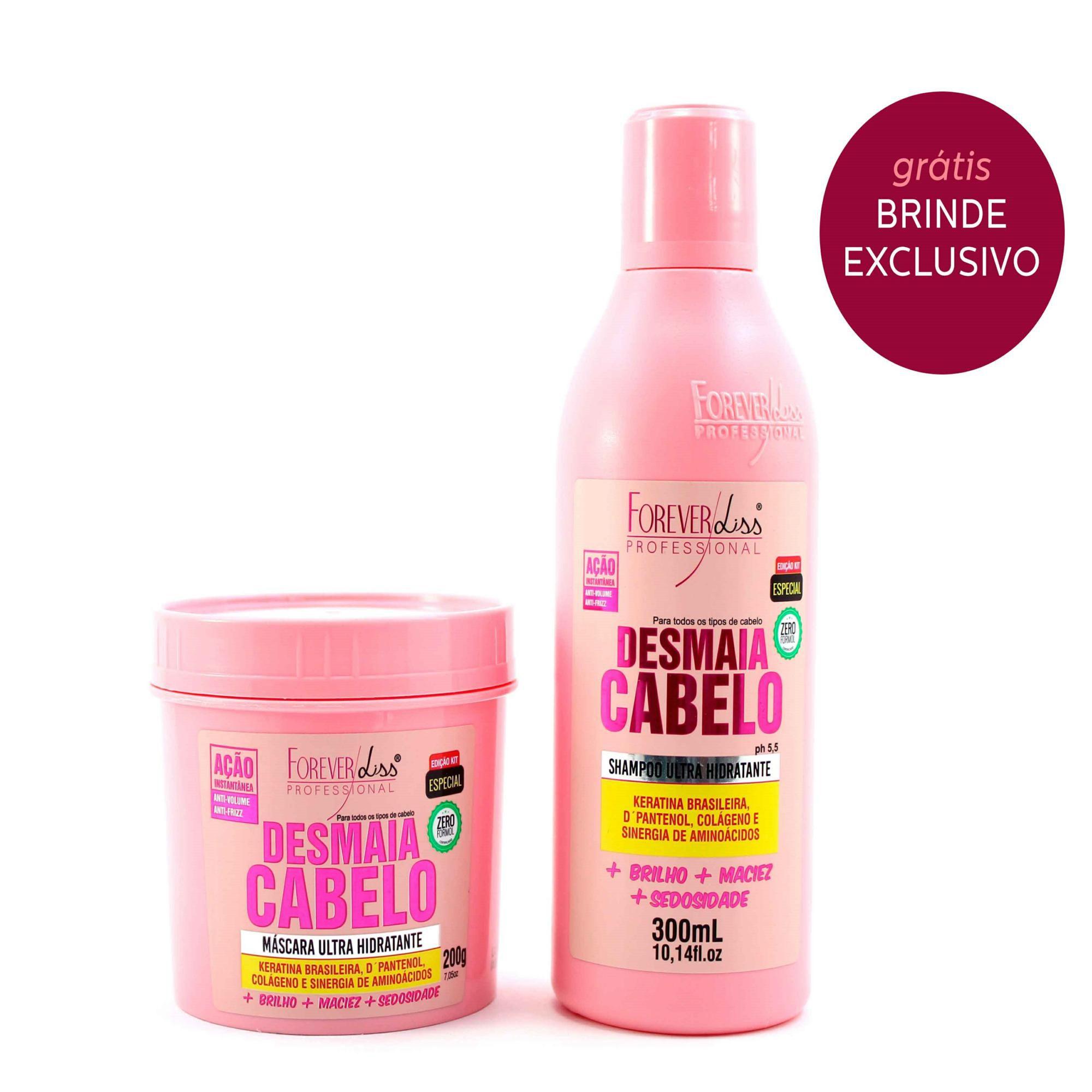Forever Liss - Kit Desmaia Cabelo Shampoo 300ml + Máscara 200g