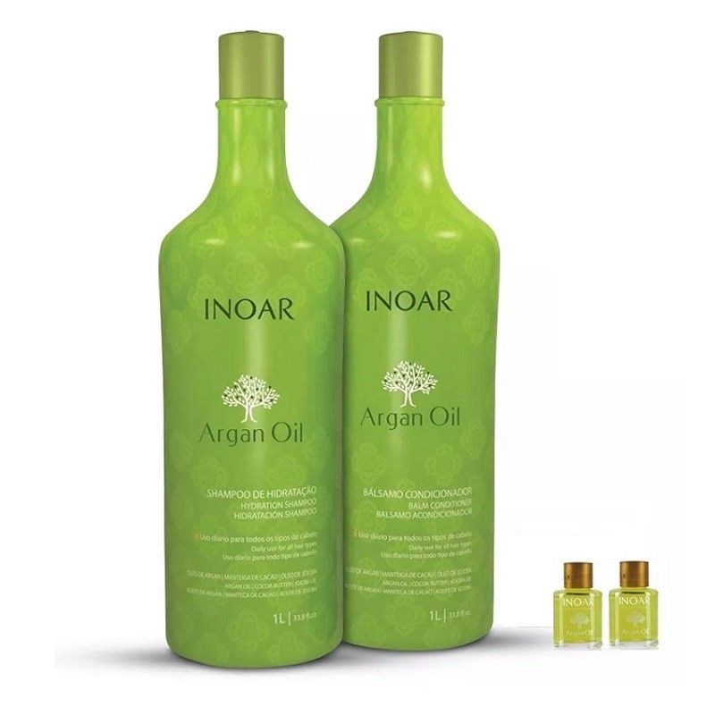 Inoar Kit Argan Oil Shampoo e Condicionador - Grátis 2 Óleo de Argan