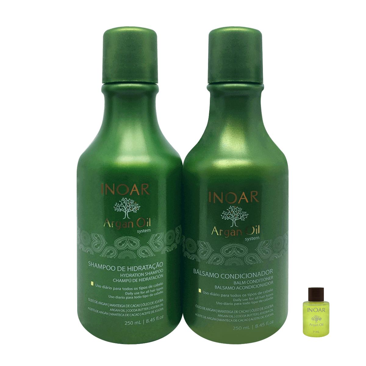 Inoar Kit Duo Argan Oil - Shampoo e Condicionador (Ampola Grátis)