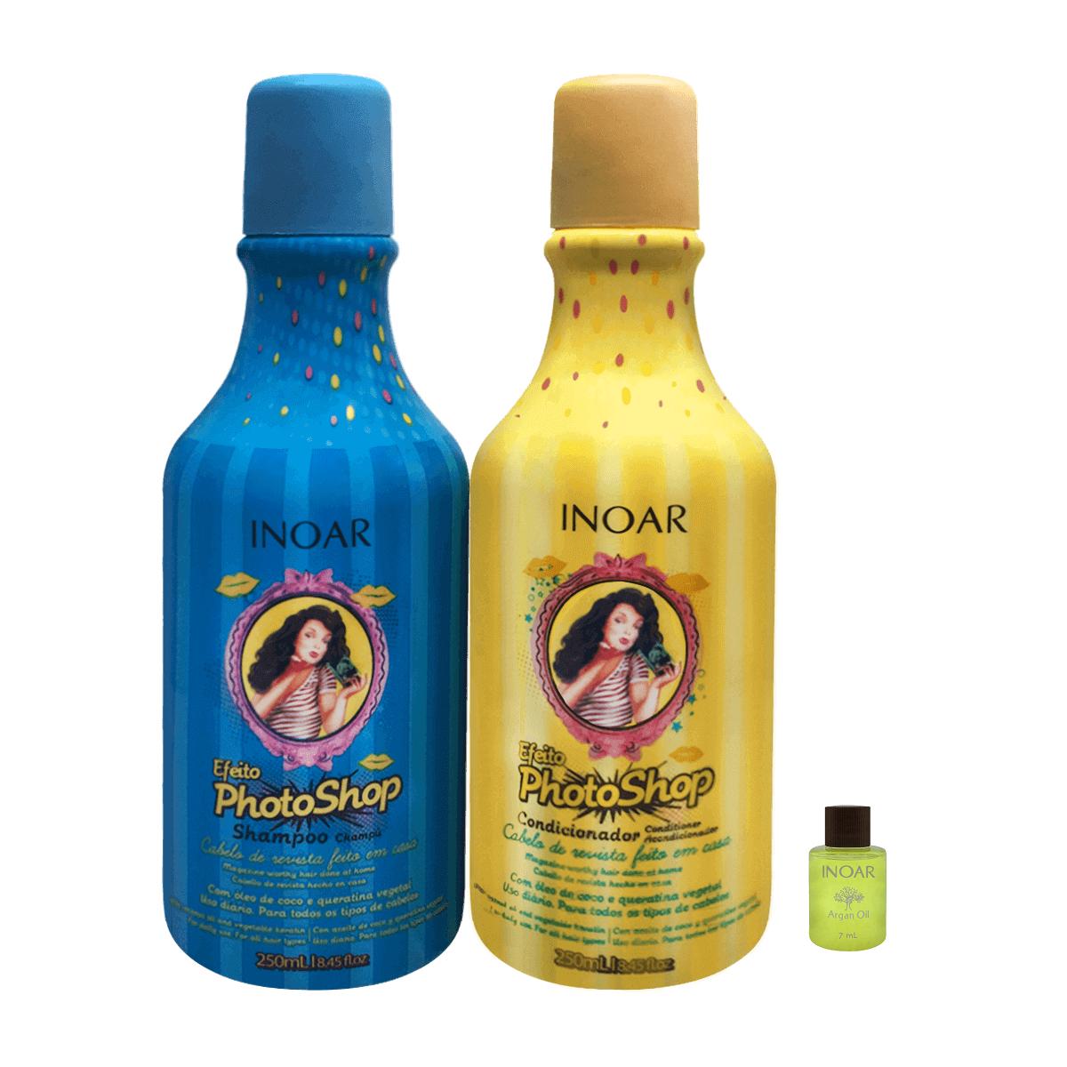 Inoar Kit Duo Efeito Photoshop - Shampoo e Condicionador (Ampola Grátis)