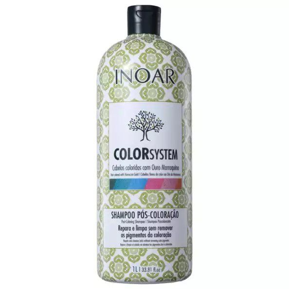 Inoar Shampoo Pós Coloração Color System - 1L