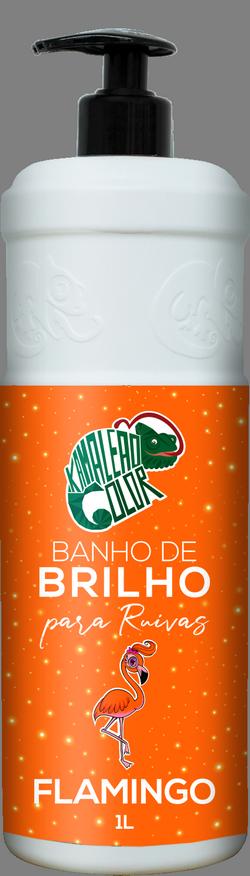 Kamaleão Banho de Brilho Cor Flamingo - 1000ml