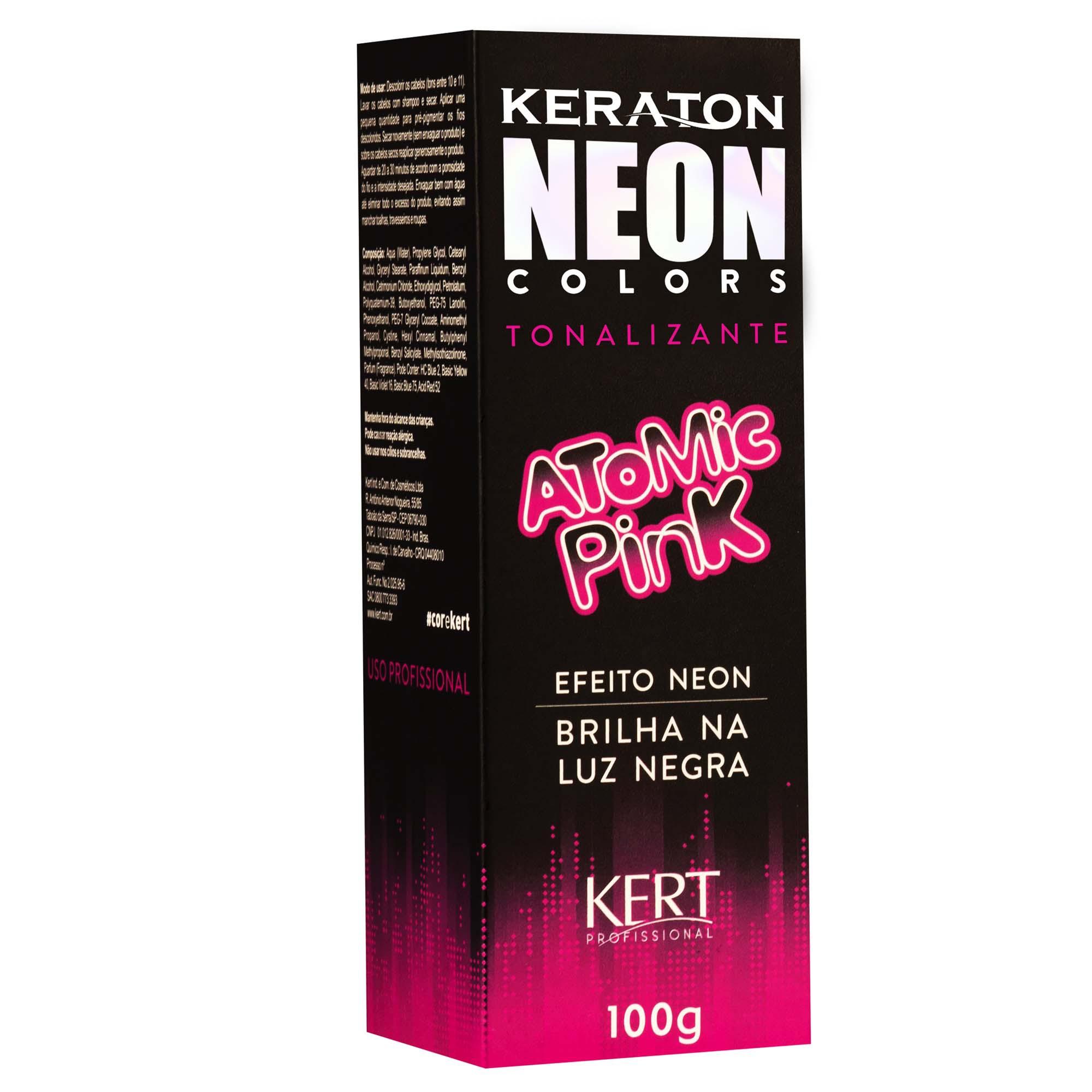Kert Keraton Neon Colors Tonalizante Cor Atomic Pink  - 100g