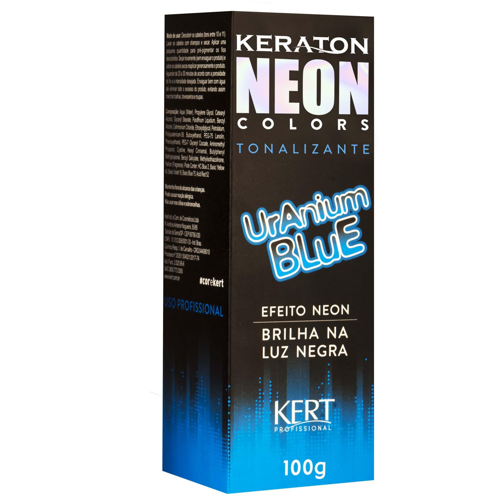 Kert Keraton Neon Colors Tonalizante Cor Uranium Blue - 100g
