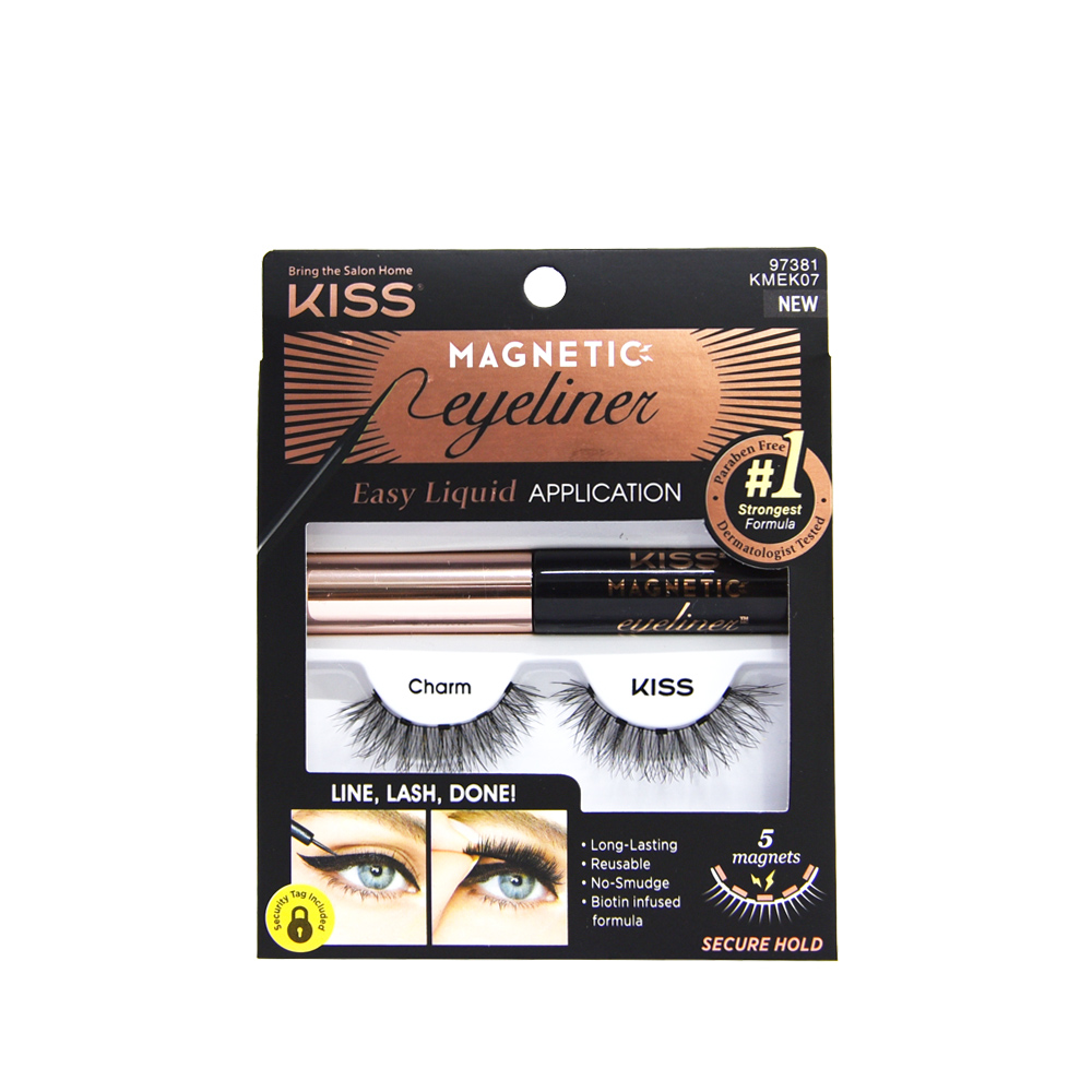 Kiss New York Cílios e Delineador Magnetic Eyeliner KMEK07