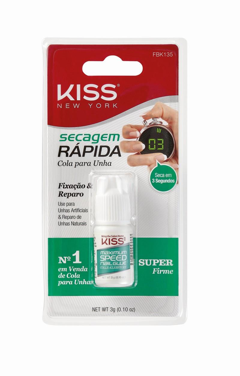Kiss New York Cola de Unhas Postiças Secagem Rápida