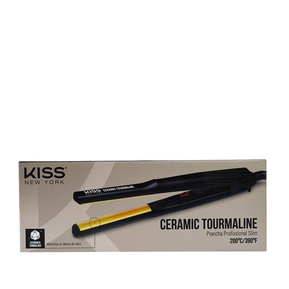 Kiss New York Prancha Profissional Ceramic Tourmaline  Slim