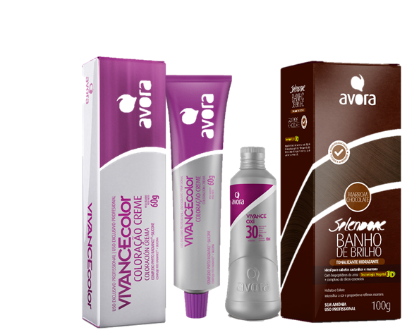 Kit Avora Vivance Color - Castanho