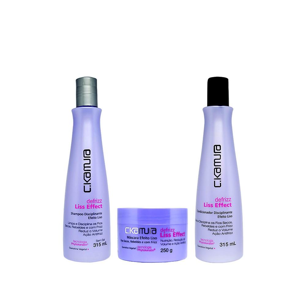 Kit C.Kamura Liss Effect Shampoo, Condicionador e Máscara
