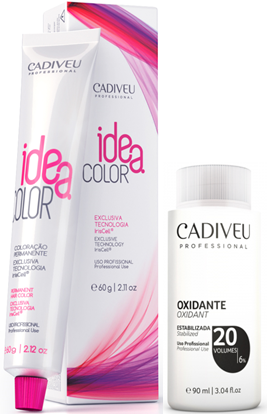 Kit Cadiveu 3.0 Idea Color e Água Oxigenada 20vol Cadiveu 90ml