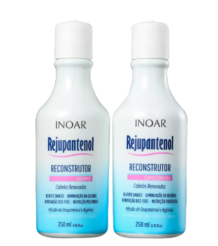 Kit Duo Rejupantenol Reconstrutor Shampoo e Condicionador 250ml - Grátis Leave-in Rejupantenol