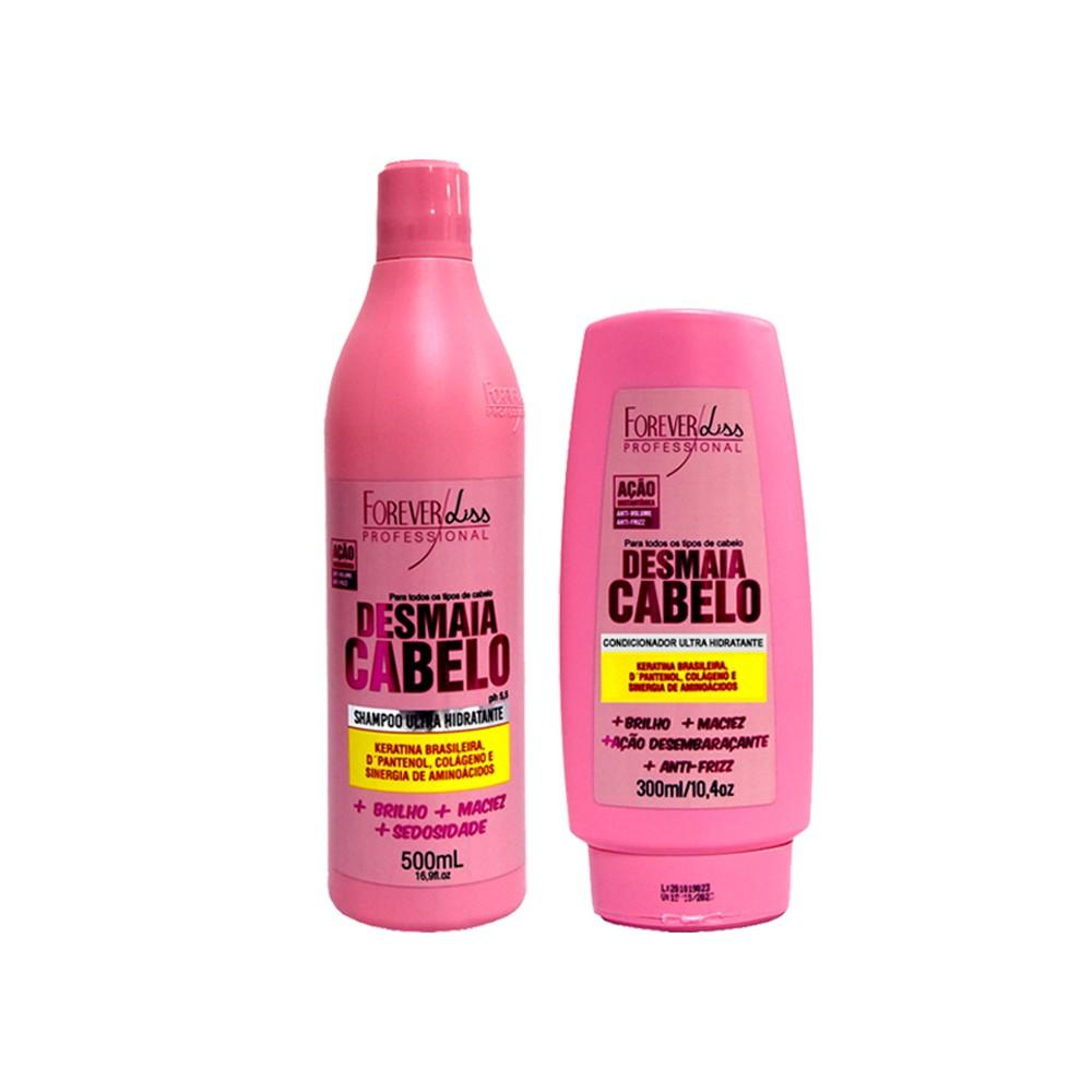 Kit Forever Liss Shampoo e Condicionador Desmaia Cabelo
