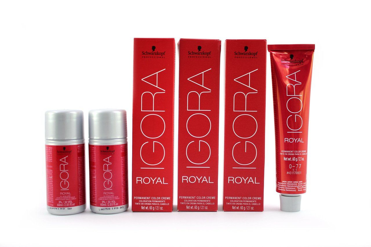 Kit Schwarzkopf Igora Royal HD 8.77 + Mix 0.77 + Ox 30 Vol