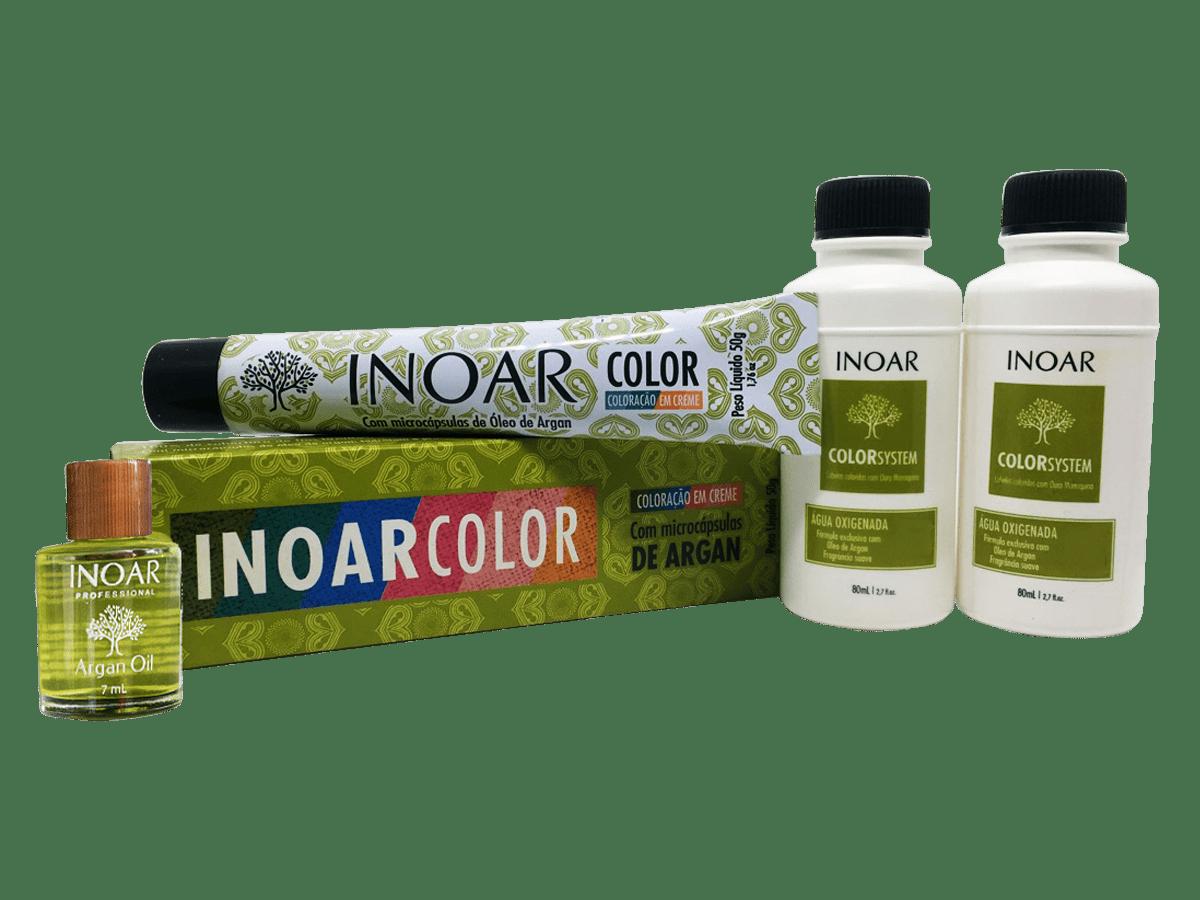 Inoar Kit Color System 8.44 - 2 Coloracoes  2 Ox  Oleo de Argan Gratis