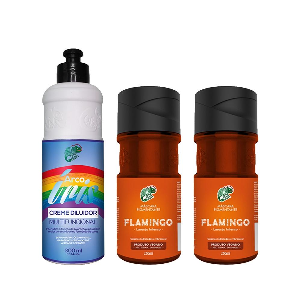 Kit Kamaleão Color - 2 Flamingo e Creme Diluidor 300ml