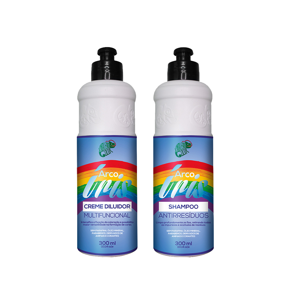 Kit Kamaleão Color Arco Íris - Shampoo Antirresíduos e Creme Diluidor