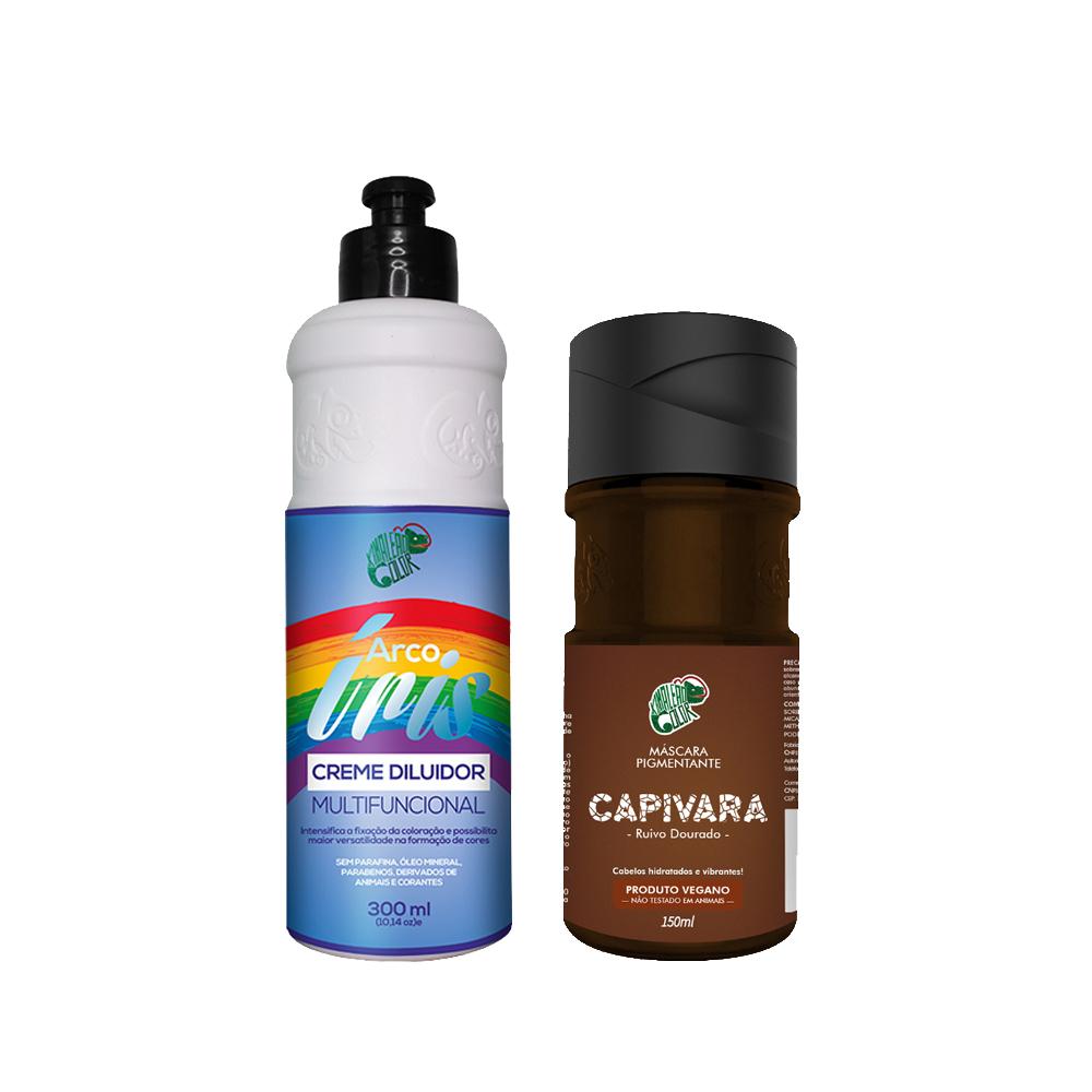 Kit Kamaleão Color Tonalizante - Capivara e Creme Diluidor Arco Íris 300ml