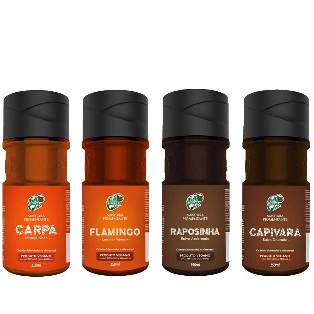 Kit Kamaleão Color Tonalizantes - Flamingo, Raposinha, Capivara e Carpa 150 ml