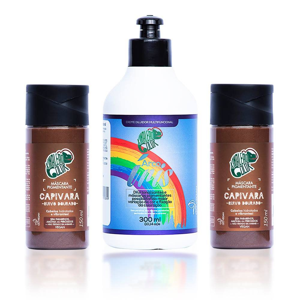 Kit Kamaleão Color - 2 Capivara e Creme Diluidor 300ml