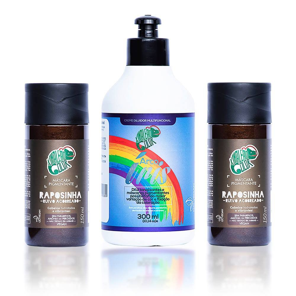 Kit Kamaleão Color - 2 Raposinha e Creme Diluidor 300ml