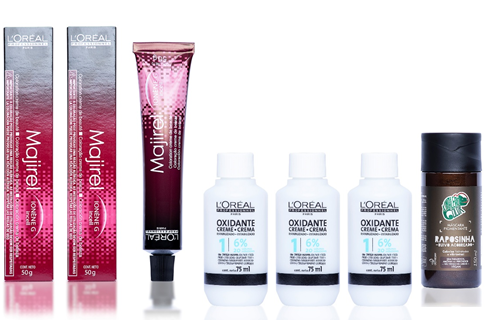 Kit Loreal 7.4, Ox 20vol e Raposinha