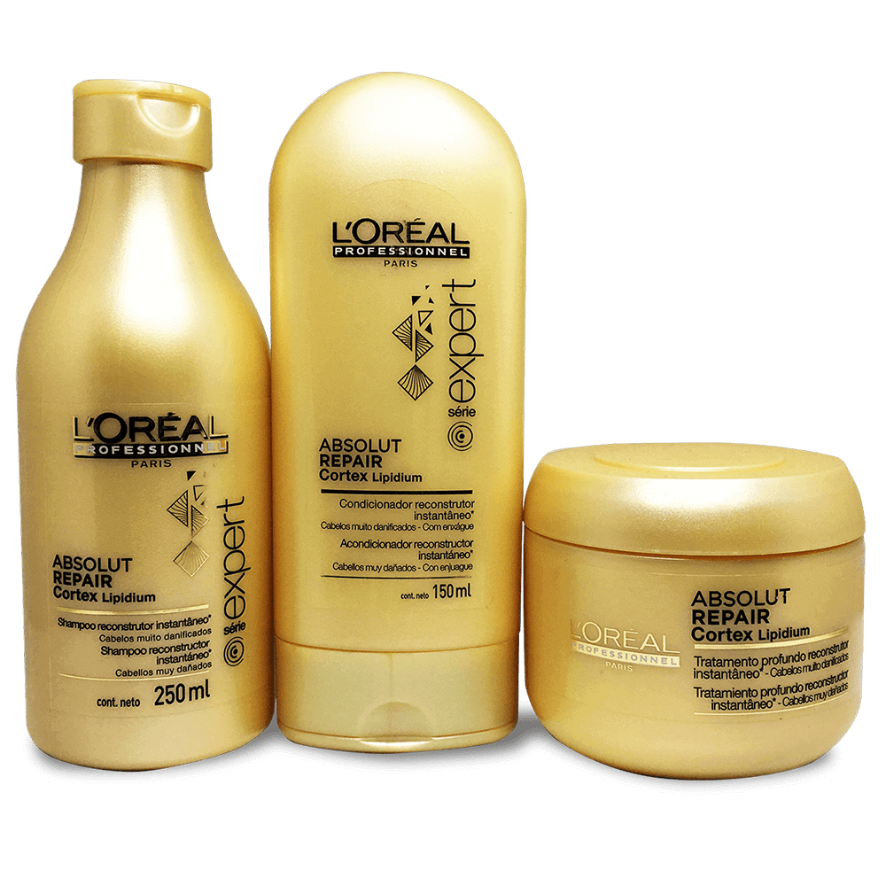 Kit Loreal Absolut Repair Cortex Lipidium - Shampoo, Condicionador e Máscara