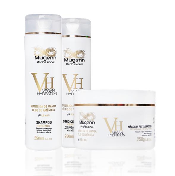 Kit Mugenn - Shampoo, Condicionador e Máscara Hidratante