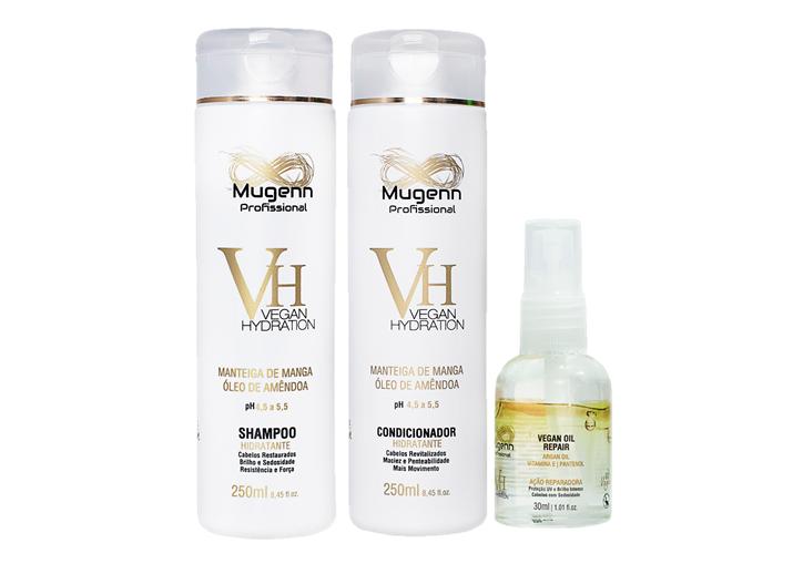 Kit Mugenn -  Shampoo, Condicionador e Óleo Argan - 30ml
