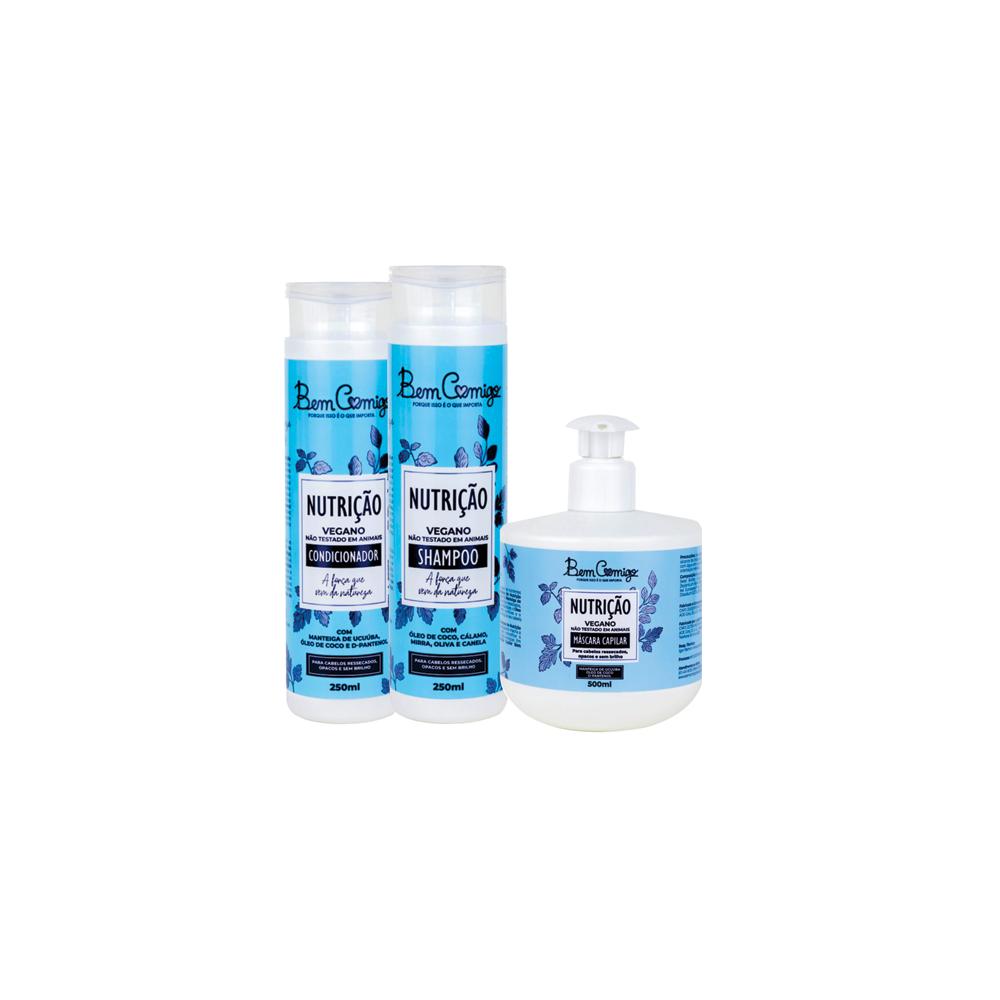 Kit Nutrição Bem Comigo 1 (Shampoo, Condicionador e Máscara