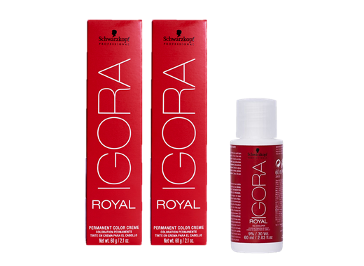 Kit Schwarzkopf Igora Royal HD 7.77 + Água Oxigenada 30Vol - 60ML