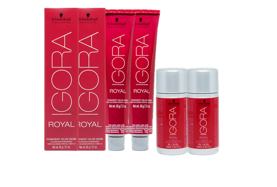 Kit Igora Royal 8.77, Igora Royal 9.7 e Água Oxigenada 30vol