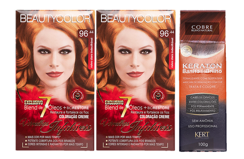 Kit Segredo da Cor - Beauty Color 96.44 e Kert Tonalizante Cobre