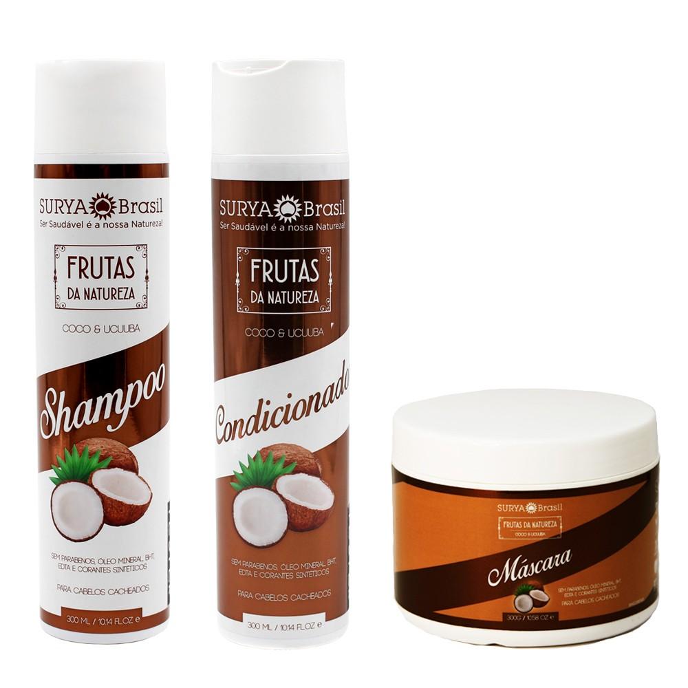 Kit Surya Brasil Coco e Ucuuba - Shampoo, Condicionador e Máscara
