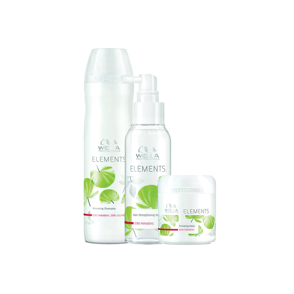 KIT WELLA ELEMENTS (SHAMPOO, LEAVE-IN E MÁSCARA)